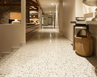 Award winning polished concrete Floor