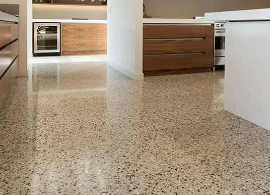 Award winning indoor polished concrete