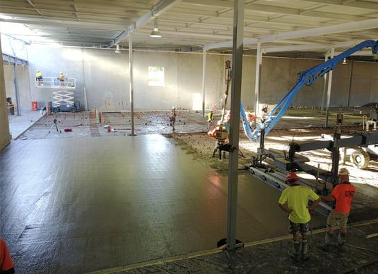Commercial Concrete Slab Pour