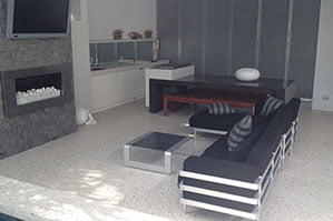 polished Concrete flooring inside home_living area