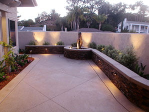 Coloured Concrete landscaping