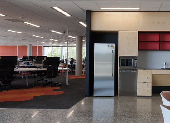 GE Springfield Office polished concrete floor