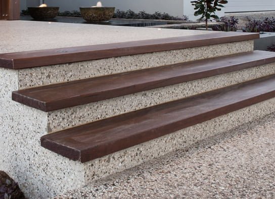 Outdoor Concrete Stairs with exposed aggregates