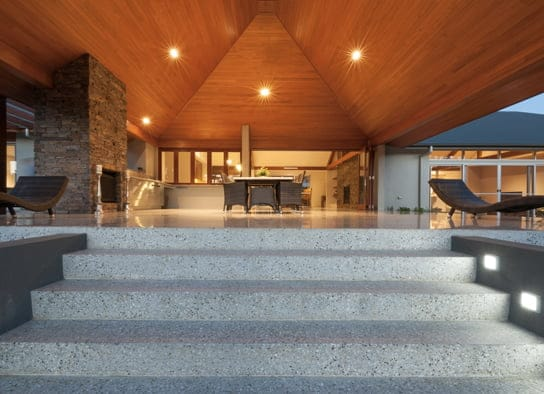 Outdoor Polished Concrete stairs