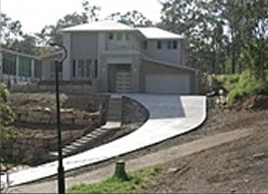 Sloping Concrete Driveway