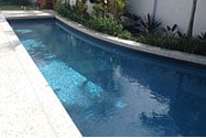 White concrete pool surrounds